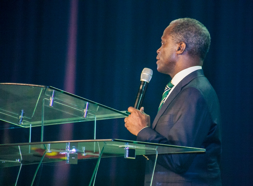 VP Osinbajo Delivers goodwill message at the Dedication of Dunamis Glory Dome.